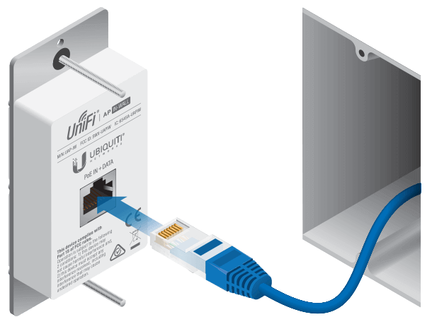 UniFi WiFi Ethernet plate